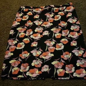 Who What Wear Floral Pencil Skirt